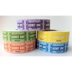 ADMIT ONE TICKETS (5 PACK)