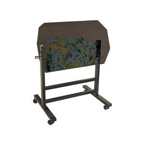 FLOOR BARREL 600 X 500 TINTED WITH STAND