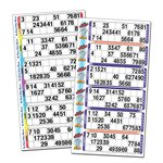 THEMED BINGO SINGLE TICKETS GLUED - PERFED