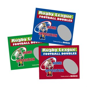 RUGBY LEAGUE DOUBLES SCRATCH (169 TICKETS)