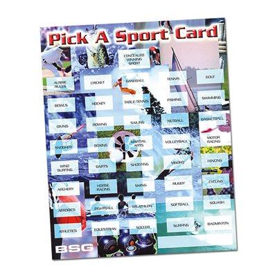 PICK A SPORT CARDS