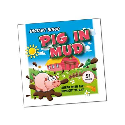 PIG IN MUD INSTANT BINGO LUCKY ENVELOPE