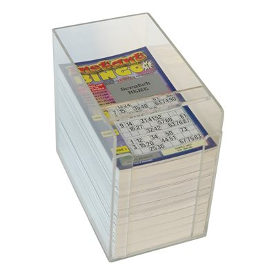 PERSPEX SCRATCH TICKET BOX