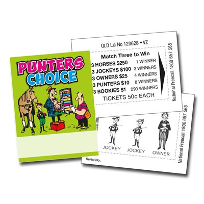MINI PUNTERS CHOICE 1 x $250 50c LUCKY ENVELOPES