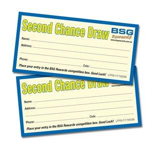 BSG REWARDS NSW 2ND CHANCE DRAW ENTRY TICKETS