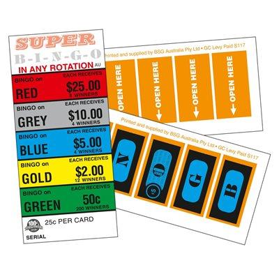 SUPER BINGO 8 X $25 LUCKY ENVELOPES
