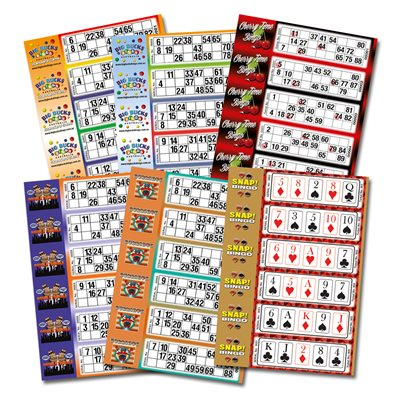 BINGO SINGLE TICKETS CUSTOM PRINTED FULL COLOUR
