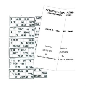 SESSION CARDS (IN BUNDLES OF 300)
